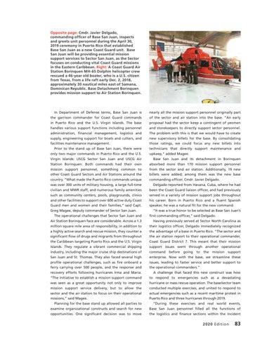 Page 87 of NEW USCG BASE SAN JUAN, BASE DETACHMENT BORINQUEN SUPPORT COAST GUARD MISSIONS