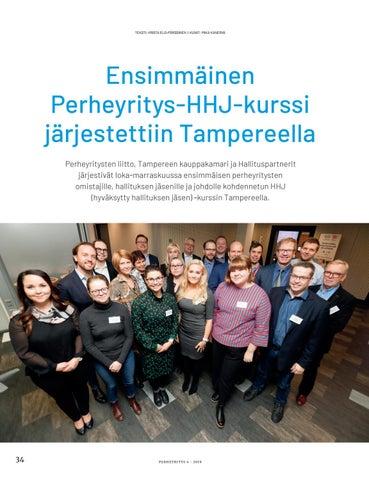 Page 34 of Perheyrityslehti 4/2019