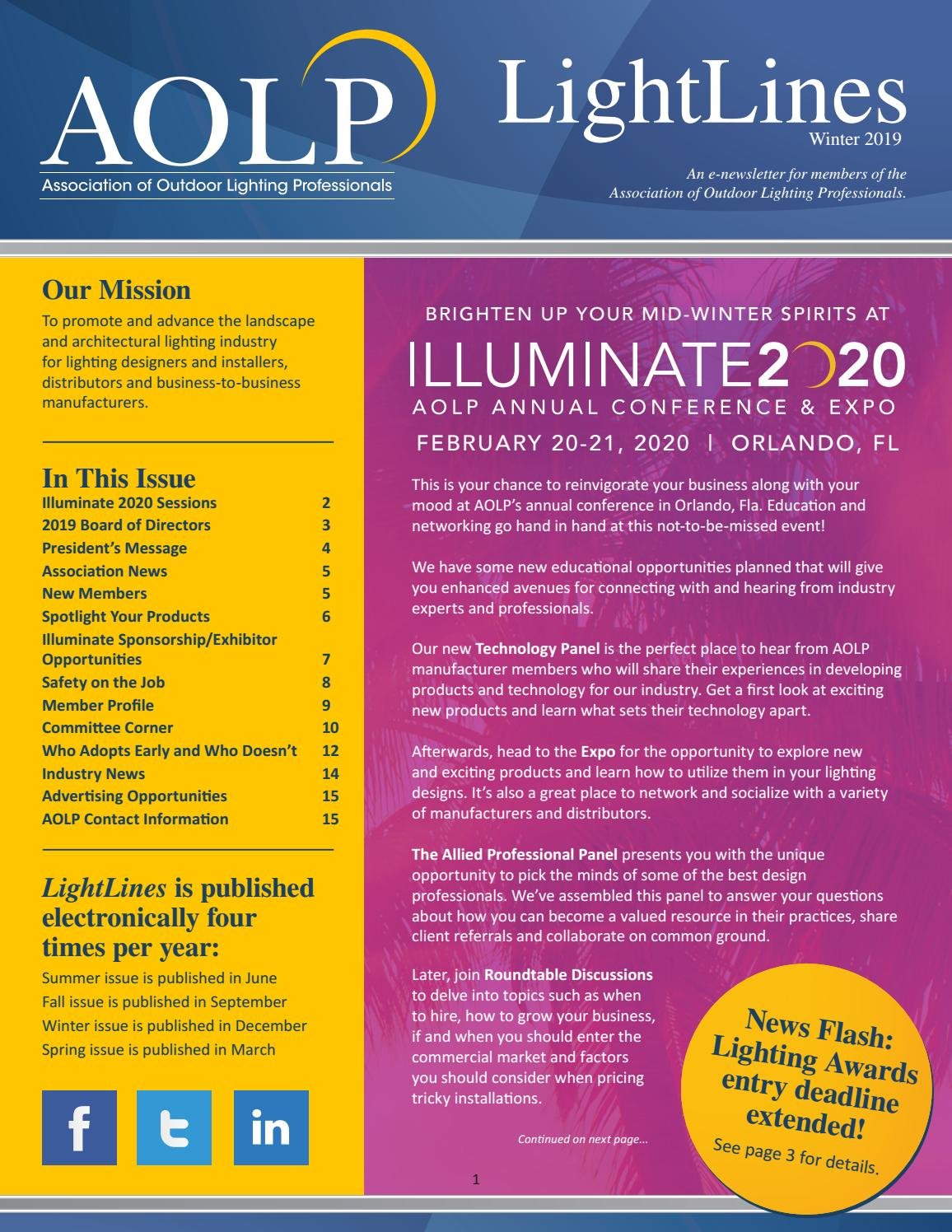 Aolp Lightlines 2019 Winter Issue By