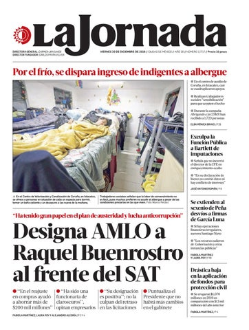 La Jornada 12 20 2019 By La Jornada Issuu