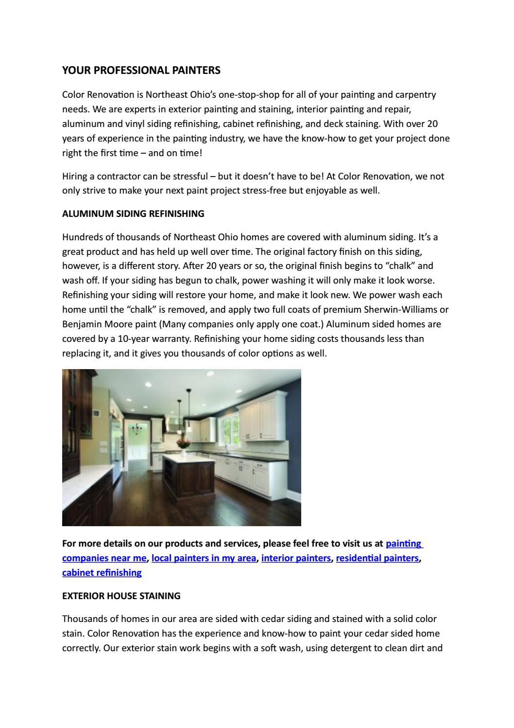 Your Professional Painters By Colorrenovation Issuu