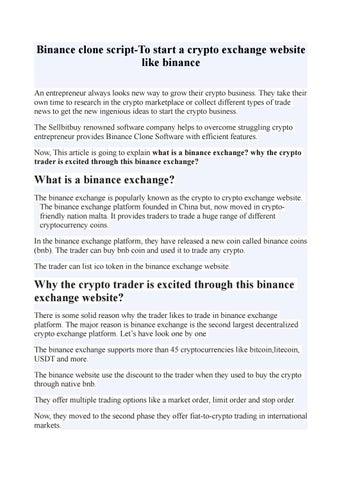 binance exchange website login