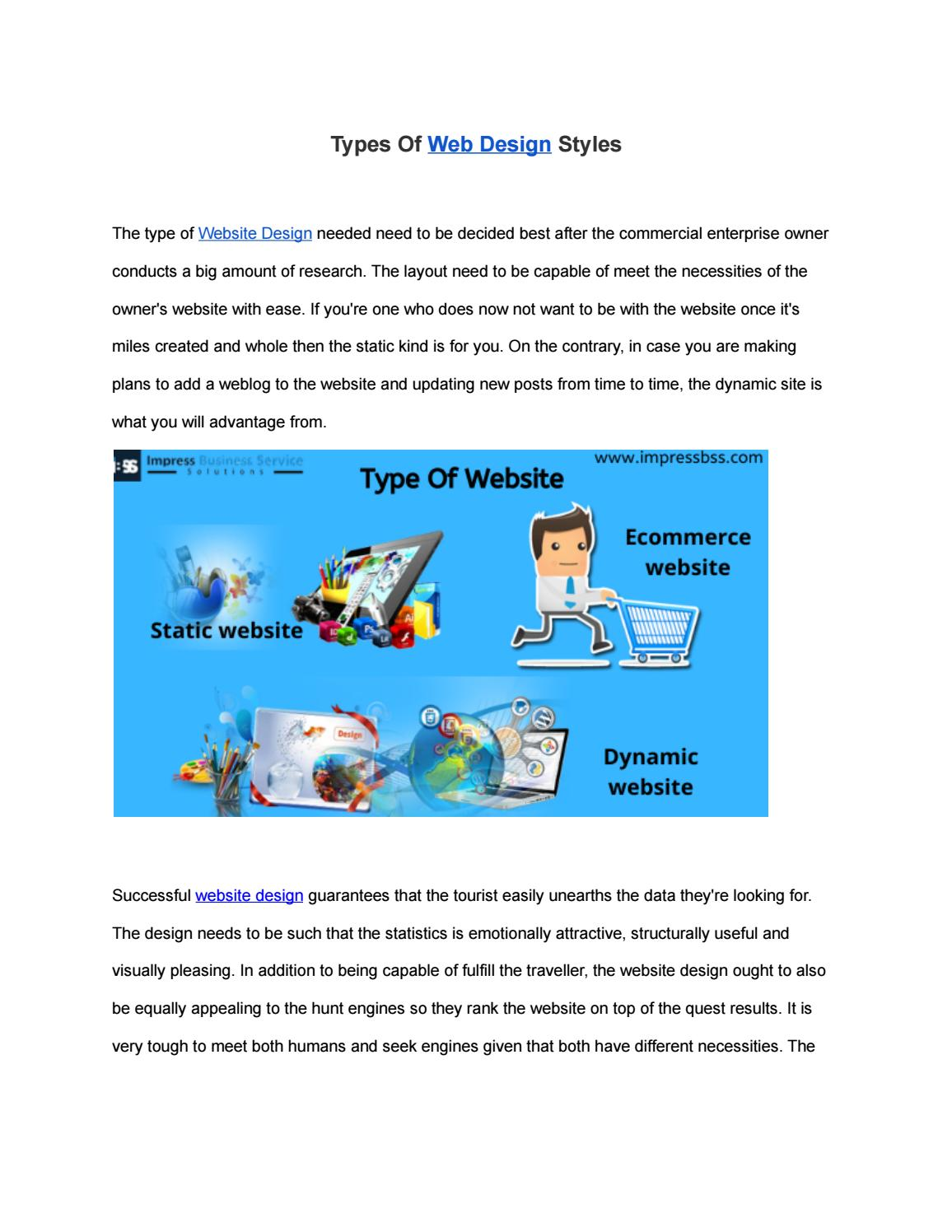 Types Of Web Design Styles By Impressbss Issuu