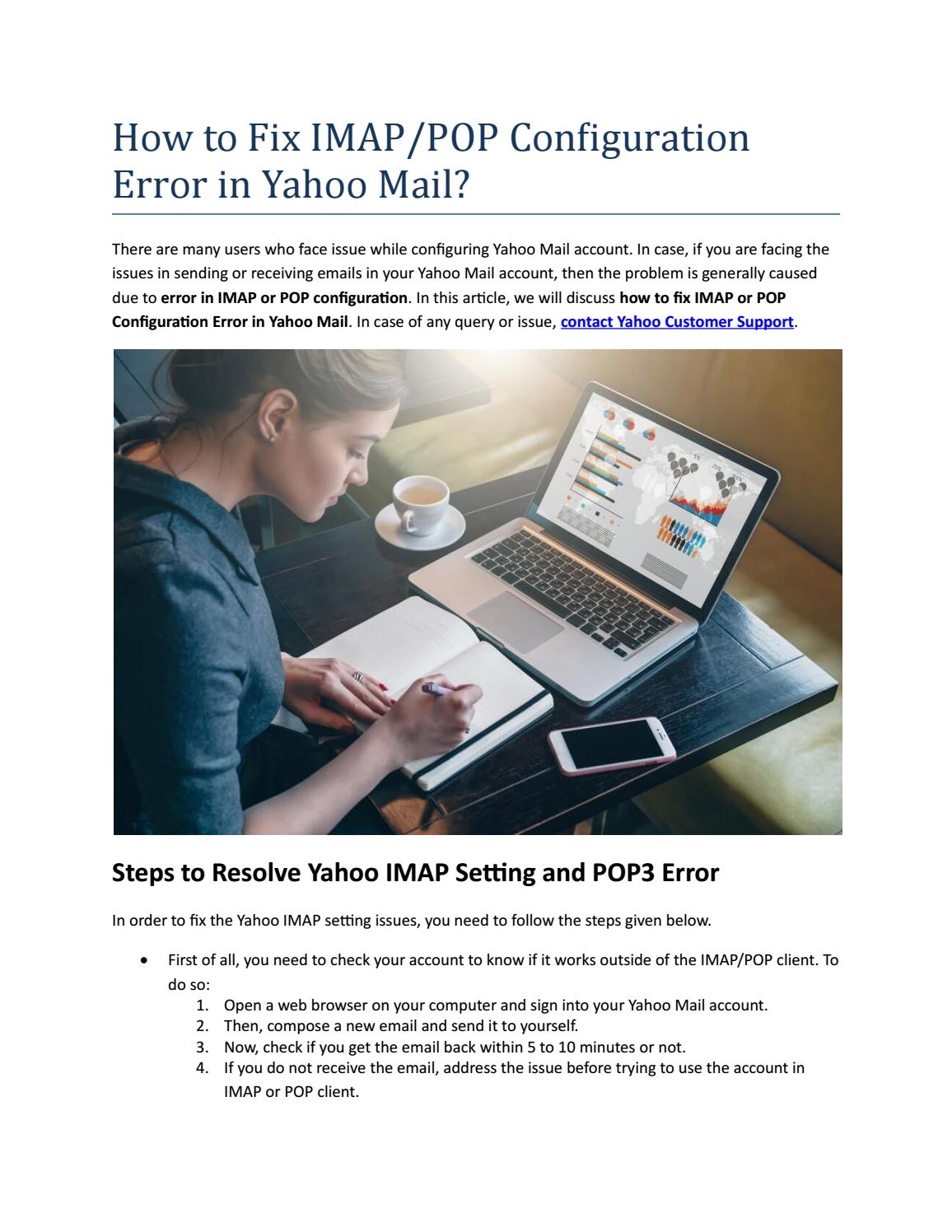 How to Fix IMAP/POP Configuration Error in Yahoo Mail?