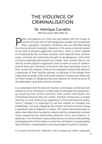 Page 11 of THE VIOLENCE OF CRIMINALISATION