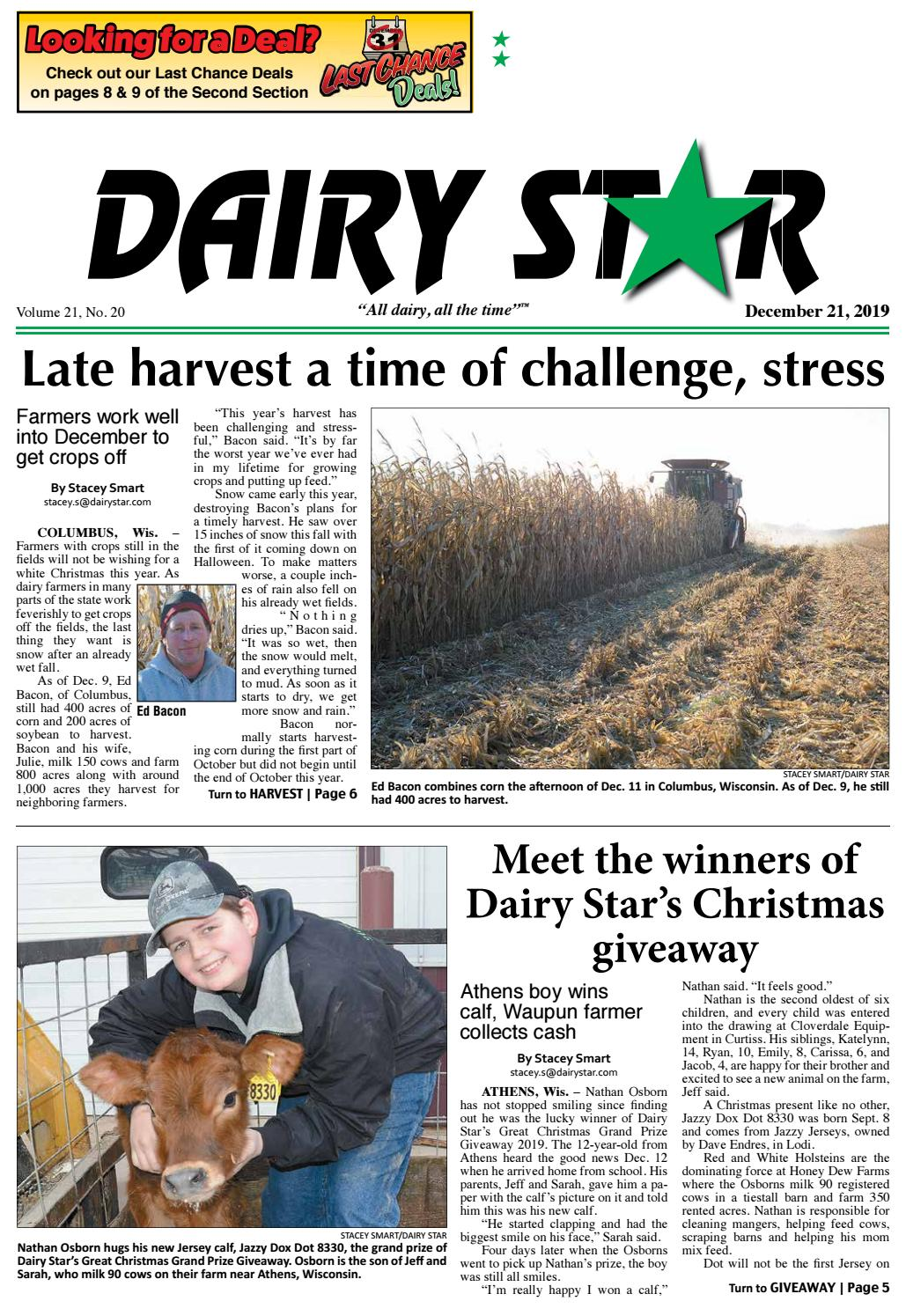 Garden View Christmas Party December 21 2020 In Calumey Michigan December 21, 2019 Dairy Star   Zone 2 by Dairy Star   issuu