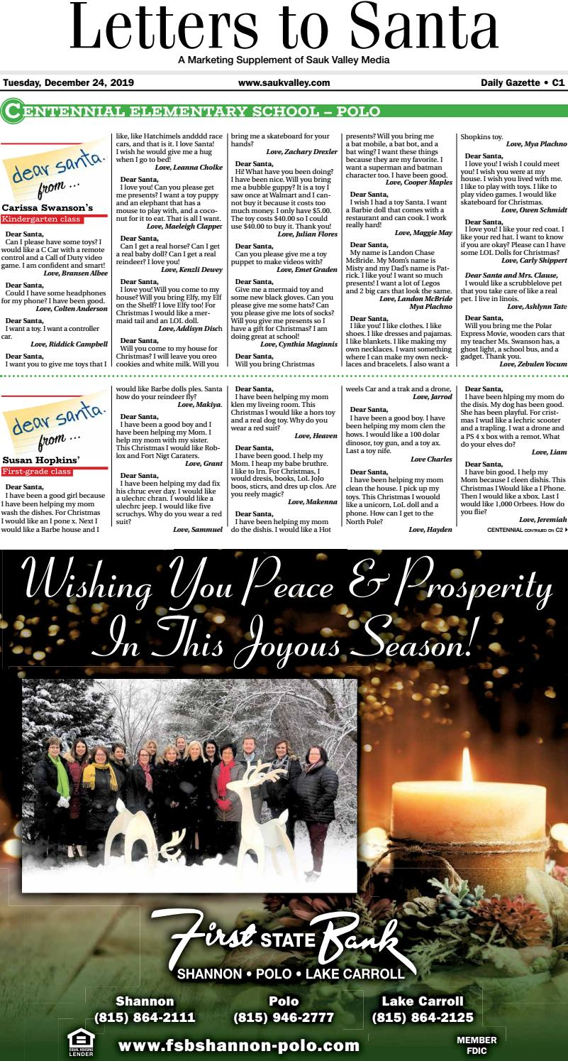 Daily Gazette Letters To Santa 122419 By Shaw Media Issuu