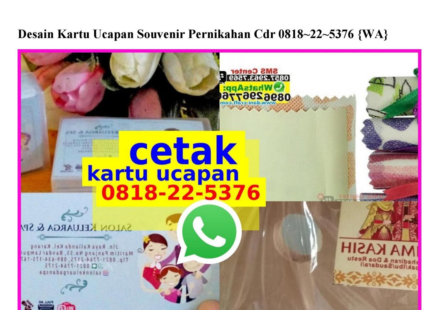 Kartu Ucapan Terima Kasih Souvenir Pernikahan Cdr - Info ...