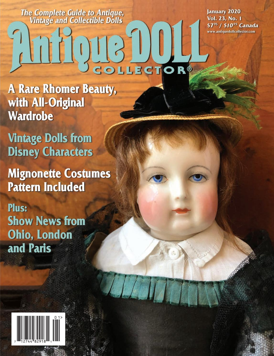 "For 18/"" European Girl Play Doll and Magic Attic Club Dolls Patterns"