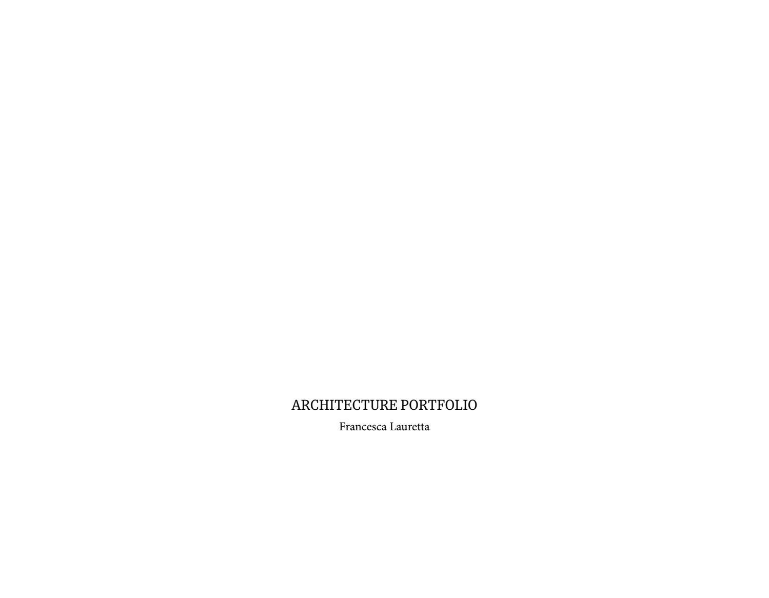 Vespaio Areato Altezza Minima architecture portfolio_francesca lauretta by francesca