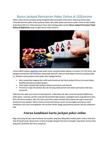 Bonus Jackpot Permainan Poker Online Di Qqdomino By Sitikencana Issuu