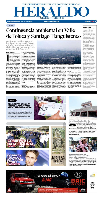 Jueves 26 de diciembre 2019 by Heraldo Estado de México - issuu
