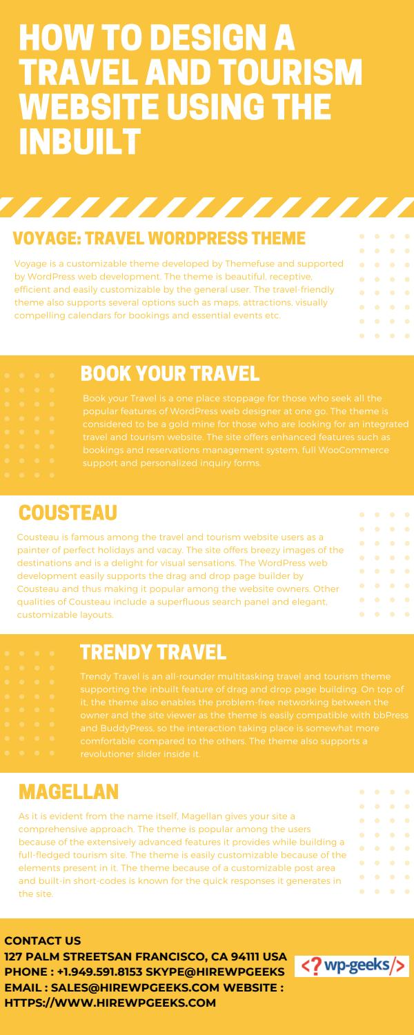 How To Design A Travel And Tourism Website Using The Inbuilt By Brandon Graves Issuu