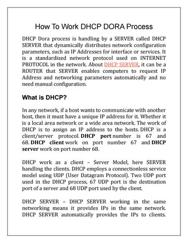 How To Work Dhcp Dora Process By Networking Signal Issuu