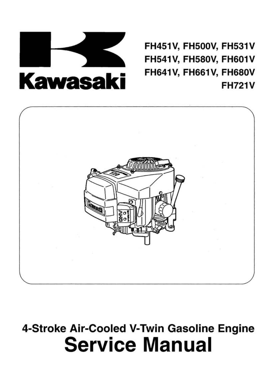 Kawasaki Fh541v 4 Stroke Air Cooled V Twin Gasoline Engine Service Repair Manual By Ucfn6p6 Issuu