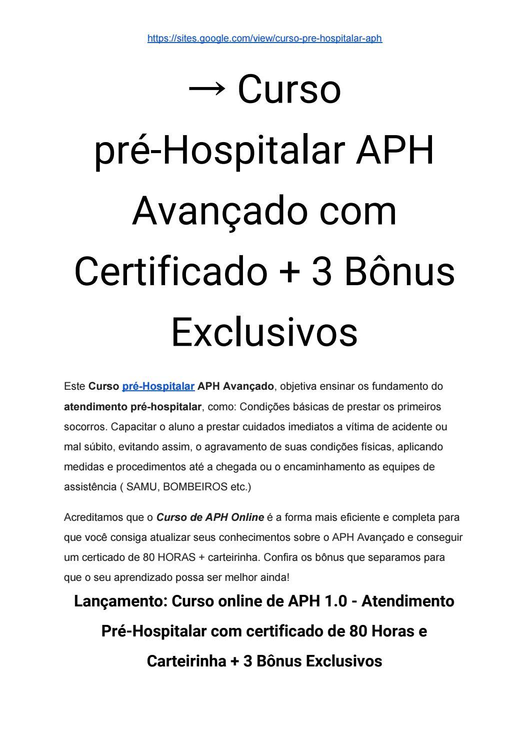 curso de aph ead gratuito