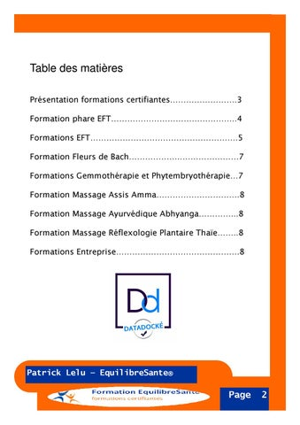 Page 3 of Table des matières