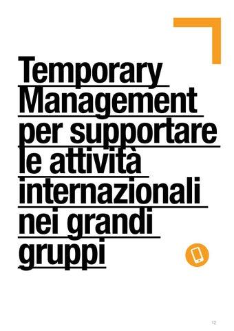 Page 12 of Temporary Management per supportare le attività internazionali nei grandi gruppi