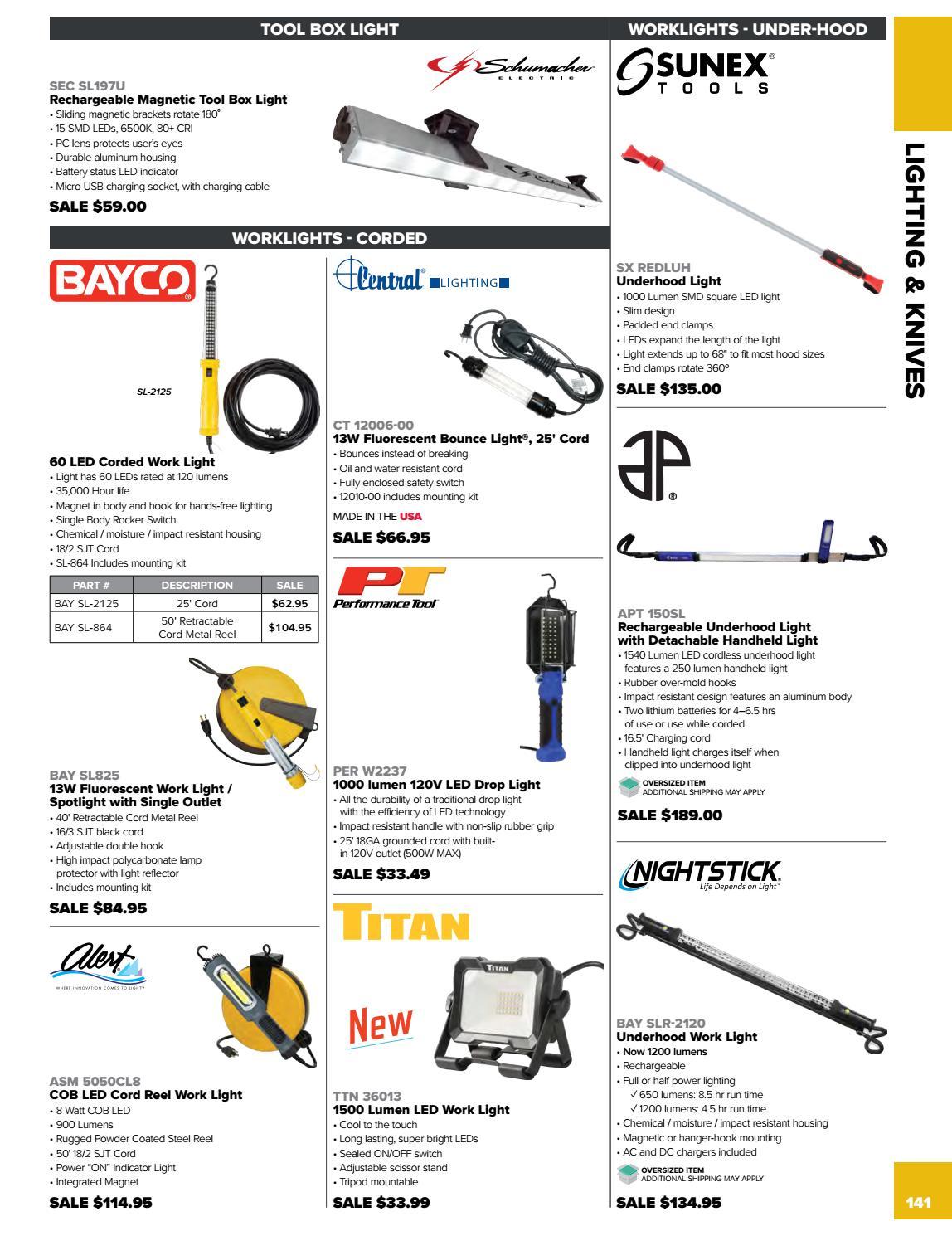 LED Rechargeable Under Hood Work Light BAY-SLR-2120 Brand New!