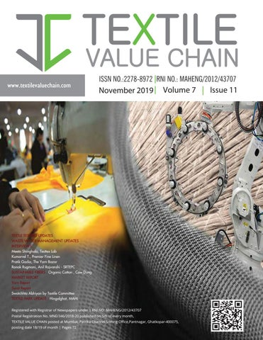 November 2019 Issue By Textile Value Chain Media Issuu