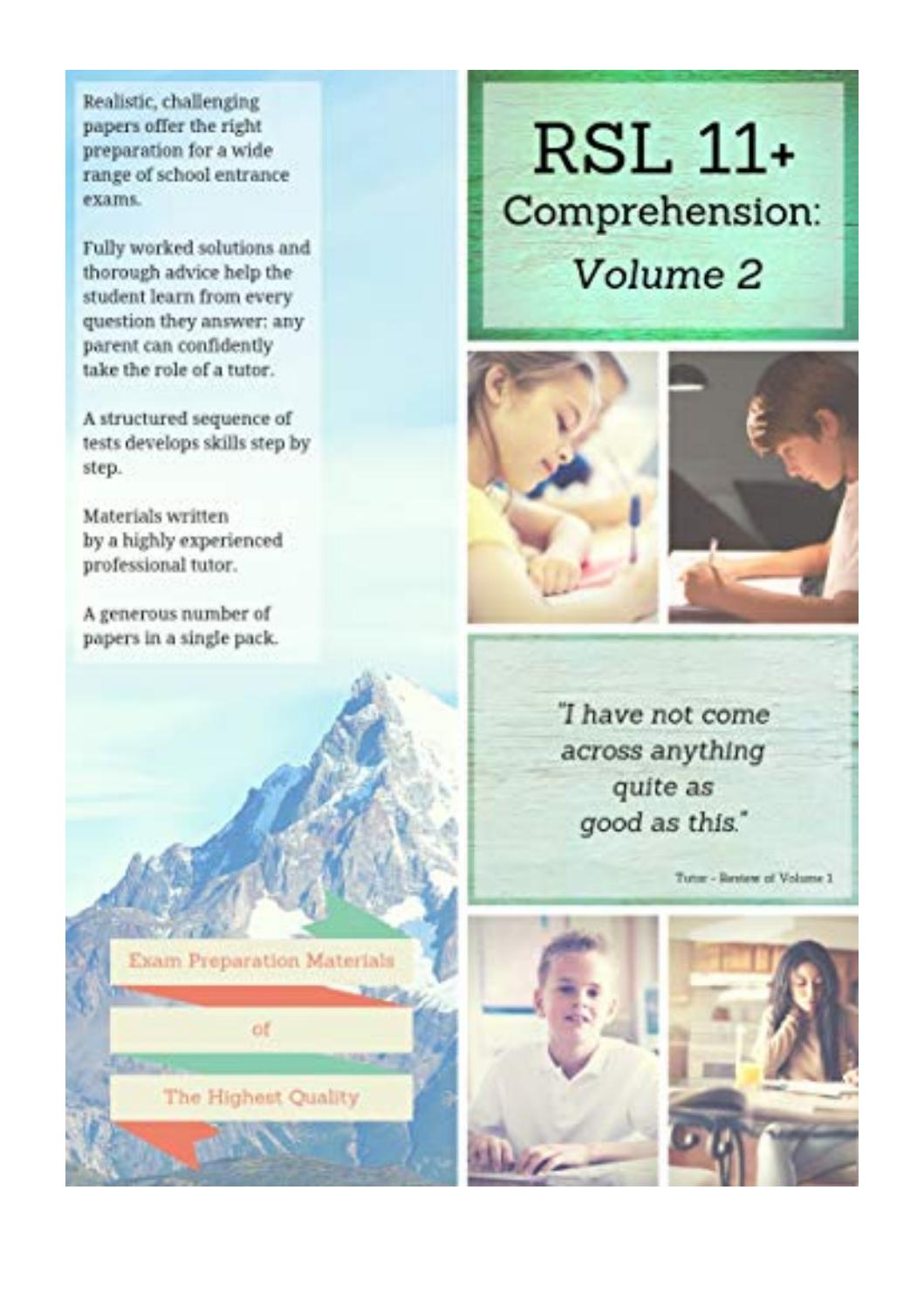 - RSL 11+ Comprehension - - Practice Papers With Detailed Answers