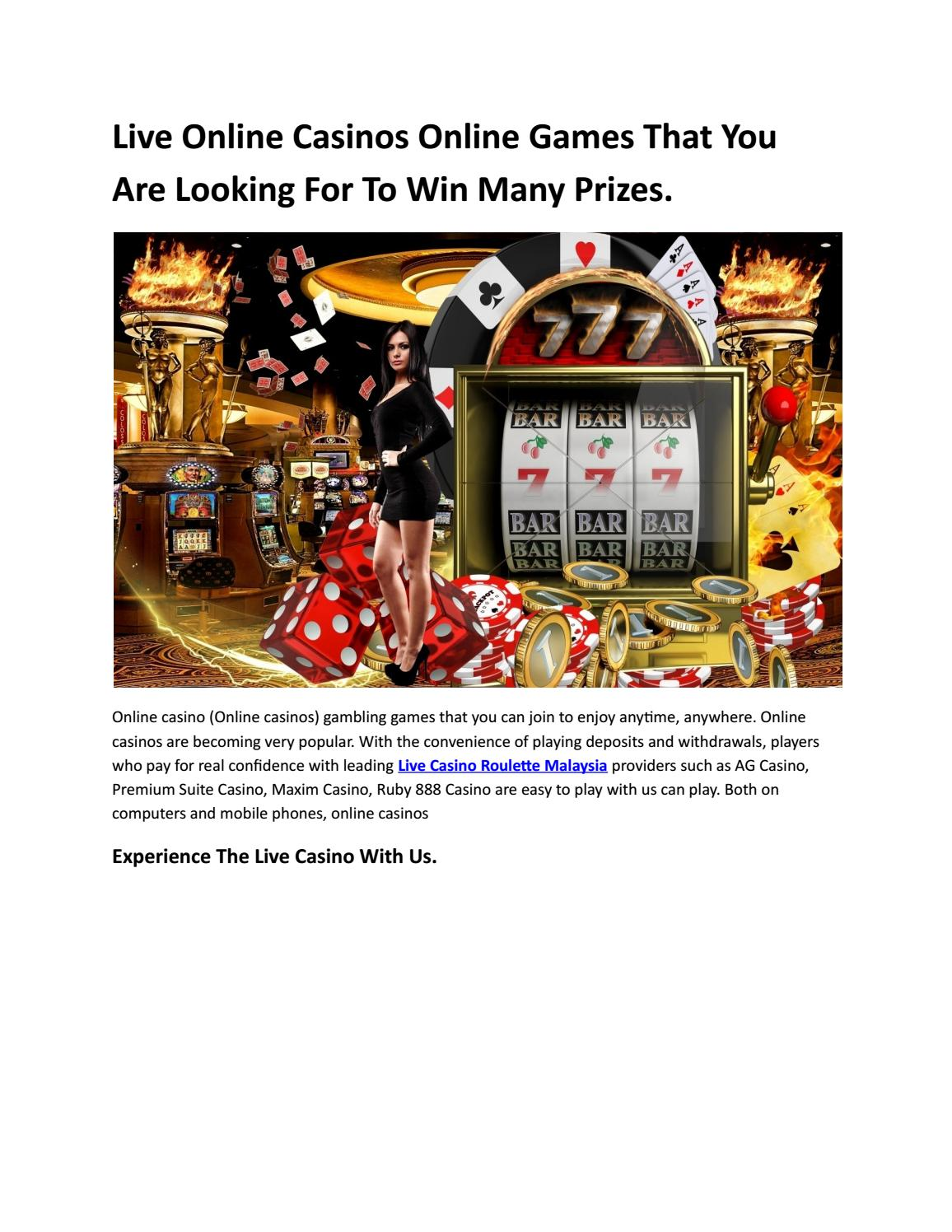 Live Online Casinos Online Games That You Are Looking For To Win Many Prizes By Live Casino 2020 Issuu