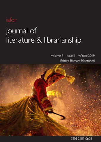 Iafor Journal Of Literature Librarianship Volume 8 Issue 1 By