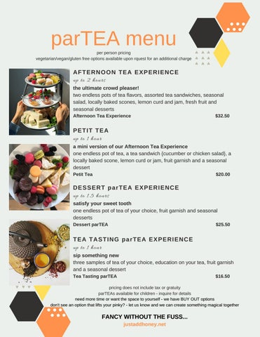 Page 3 of parTEA with just add honey tea company