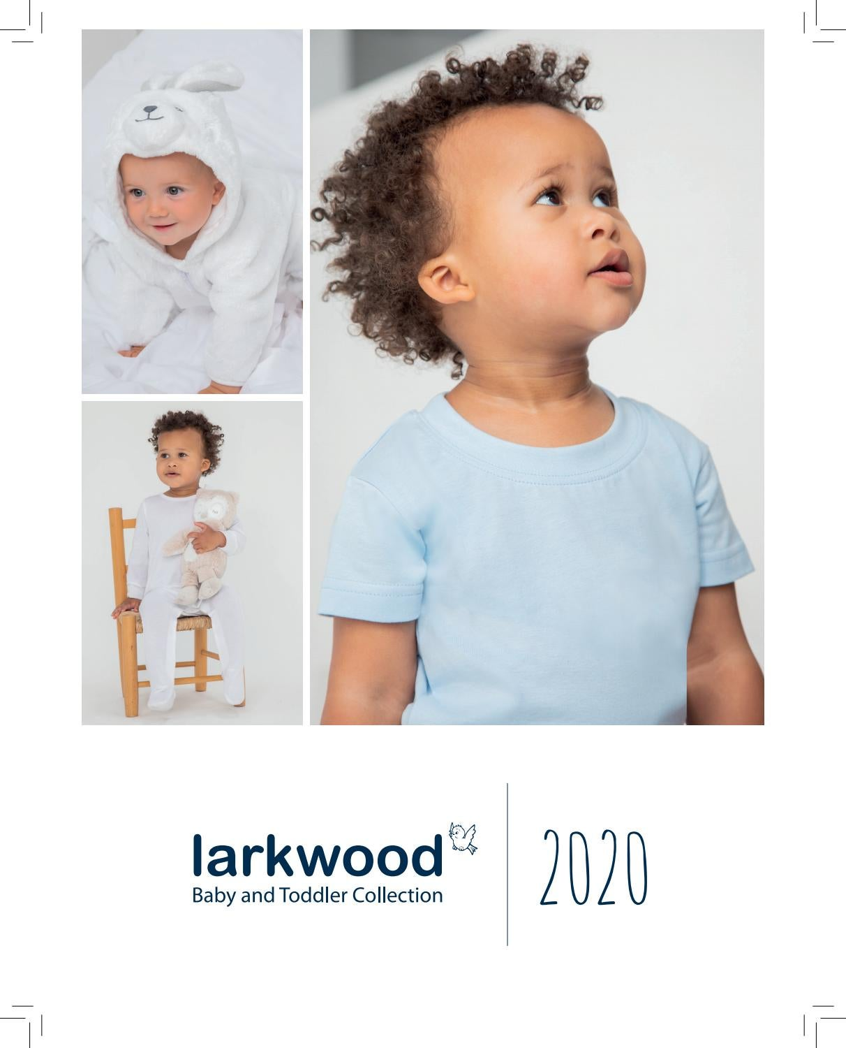 Larkwood Baby Long Sleeved T-shirt LW021 Children/'s Crew Neck Cotton Top Tee