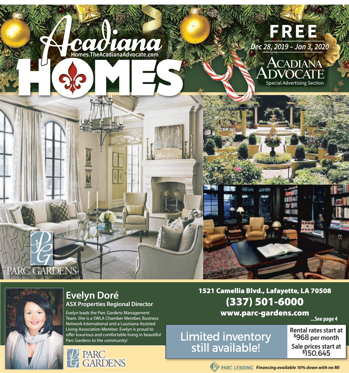 Acadiana Homes December 28 2019 By The Advocate Issuu
