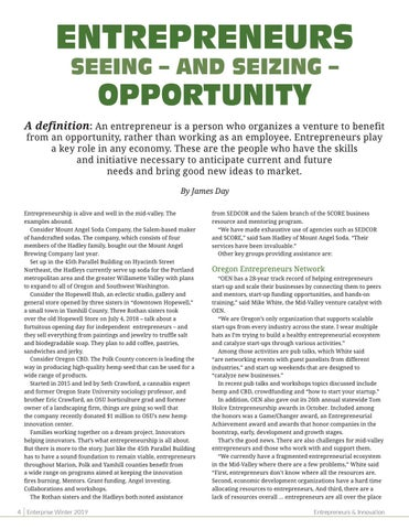 Page 6 of ENTREPRENEURS SEEING – AND SEIZING –OPPORTUNITY