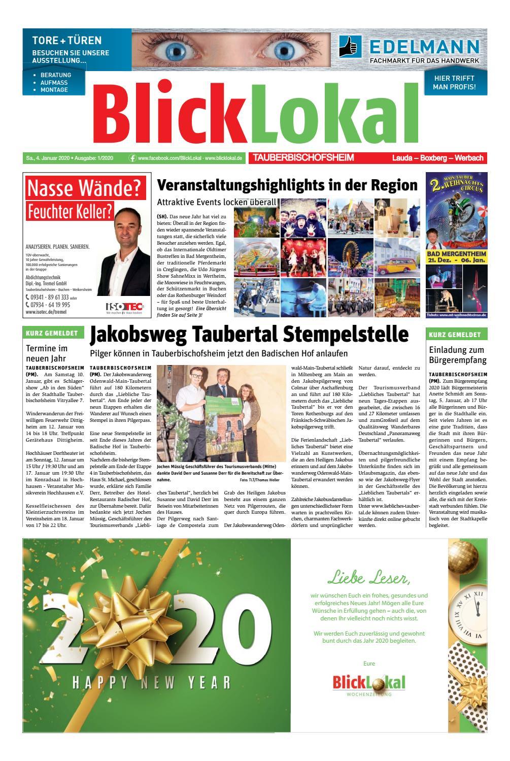 Blicklokal Tauberbischofsheim Kw 01 2020 By Blicklokal