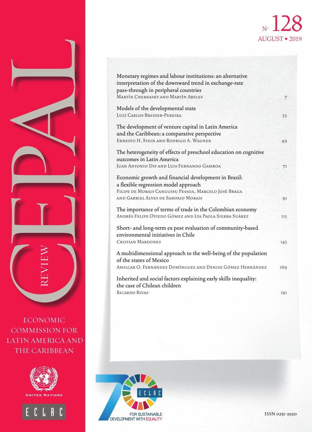 CEPAL Review No 128 By Publicaciones De La CEPAL Naciones