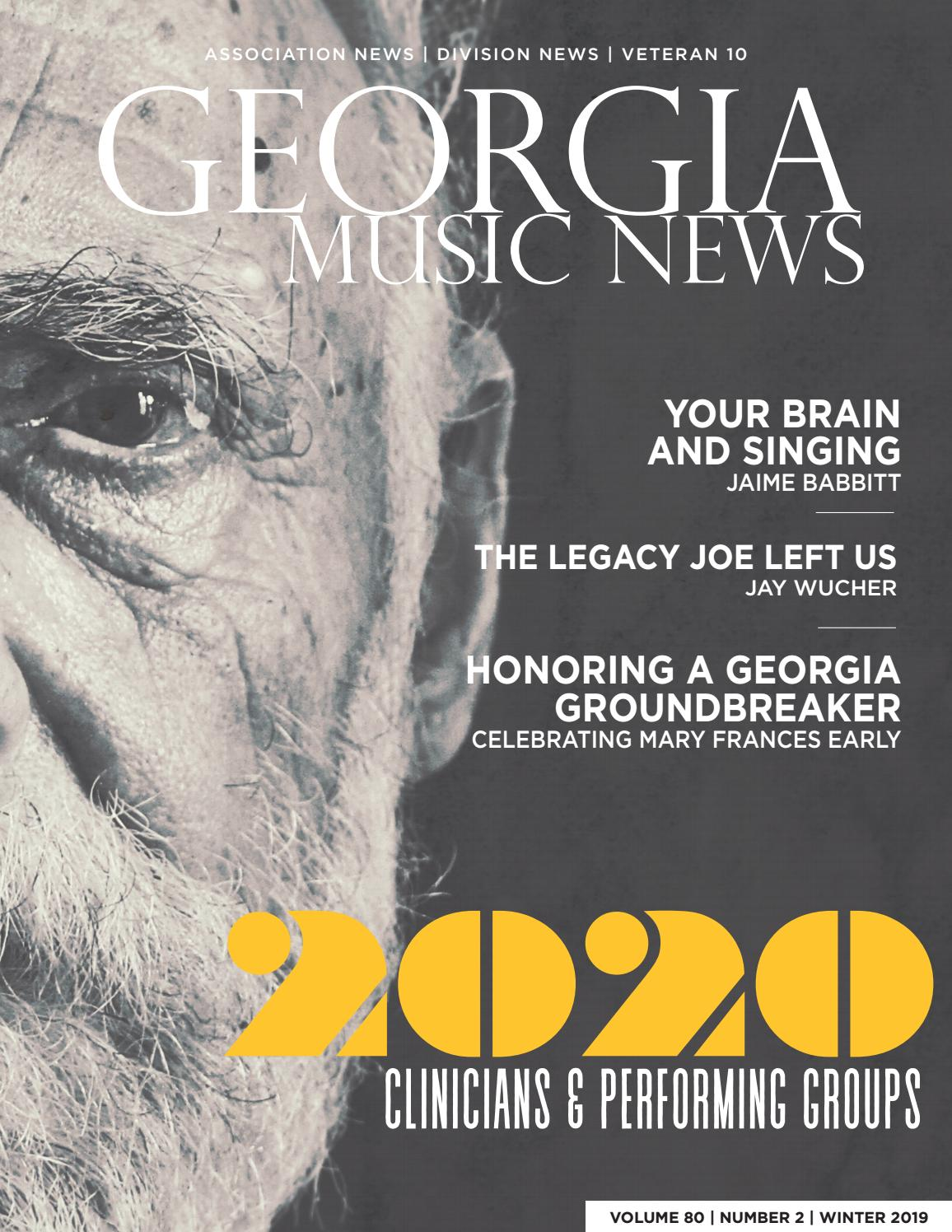 2019 2020 Georgia Music News | Winter by Georgia Music Educators
