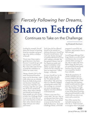 Page 19 of Sharon Estroff Fiercely Following her Dreams, Continues to Take on the Challenge