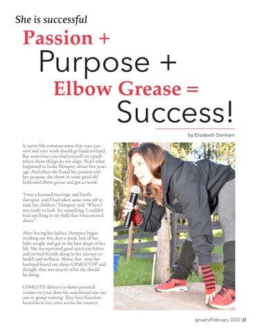 Page 31 of Purpose + She is successful