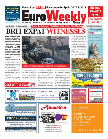 Euro Weekly News Costa De Almeria 2 8 January 2020 Issue