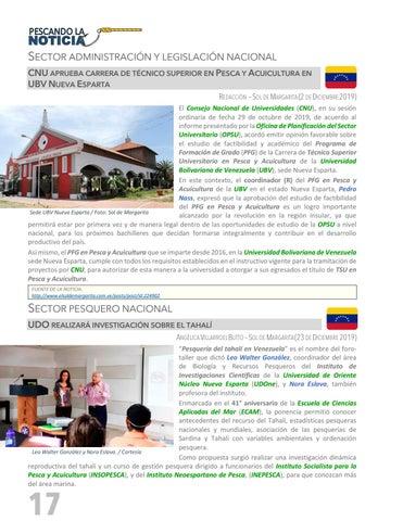 Page 18 of PESCANDO LA NOTICIA - SECTOR PESQUERO NACIONAL