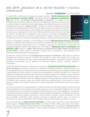 Page 8 of AÑO 2019: ¿RESILIENCIA EN EL SECTOR PESQUERO Y ACUÍCOLA VENEZOLANO?