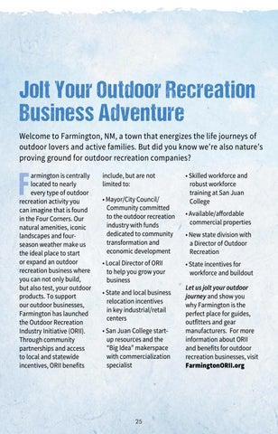 Page 25 of Jolt Your Outdoor Recreation Business Adventure