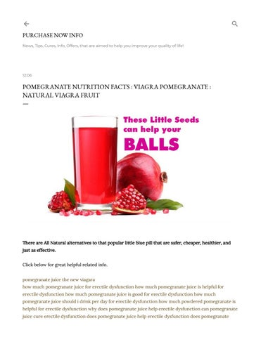 Pomegranate Nutrition Facts Is It A Natural Viagra Fruit By Compassionate Reports Issuu