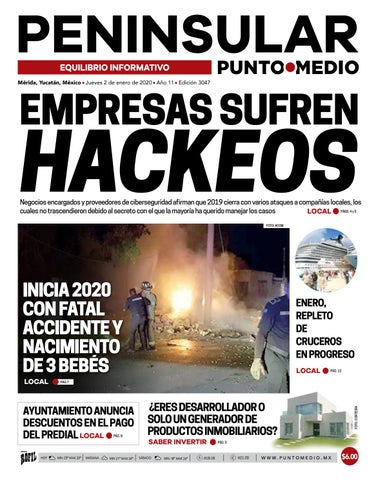 Edición Impresa Del Jueves 2 De Enero Yucatán By Punto Medio