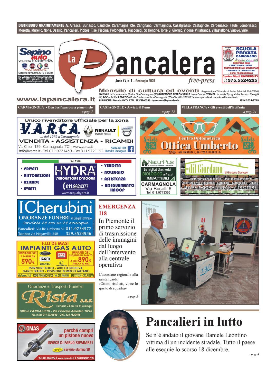 Centro Del Materasso Carmagnola.La Pancalera Gennaio 2020 By La Pancalera Issuu