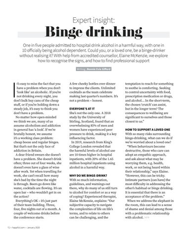 Page 72 of Expert insight: Binge drinking