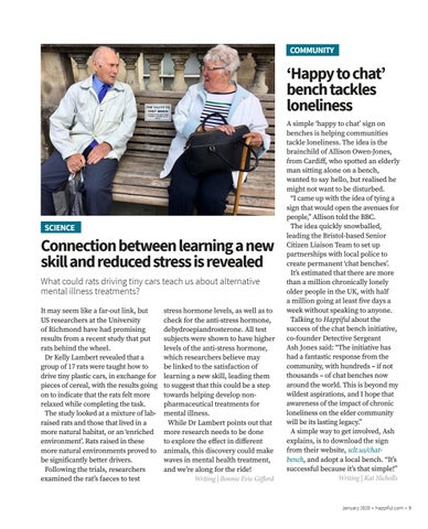 Page 9 of Connection between learning a new skill and reduced stress is revealed