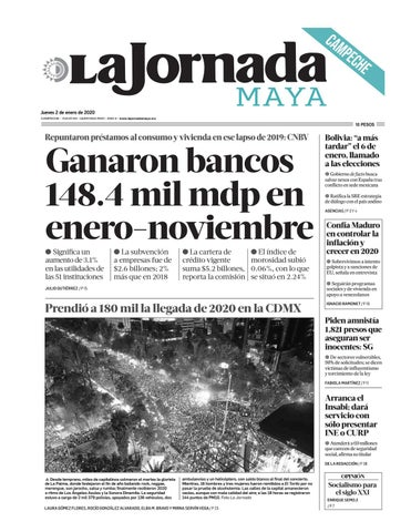 La Jornada Maya Campeche 020120 By La Jornada Maya Issuu