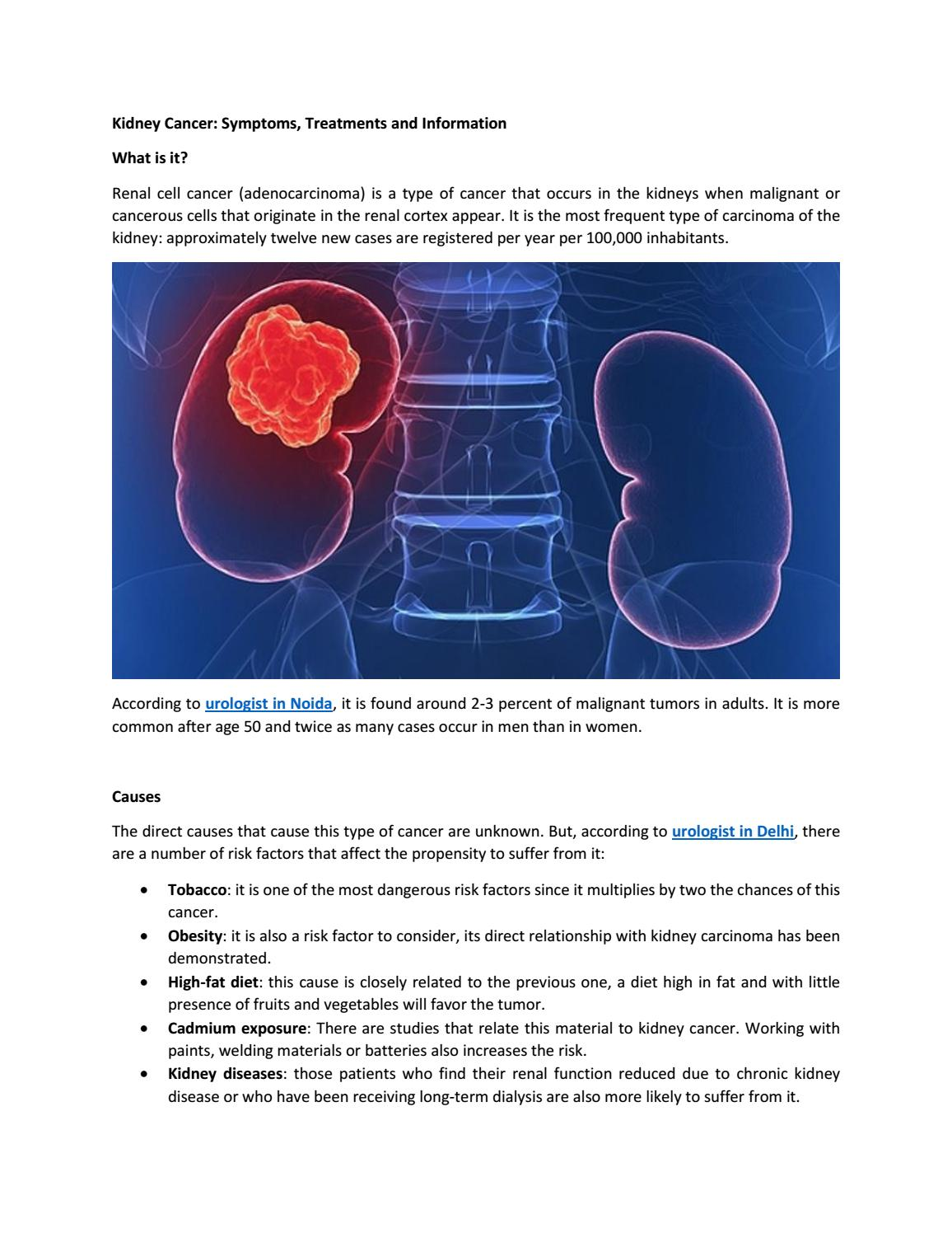 Kidney Cancer Symptoms Treatments And Information By Dr Shailendra Goel Issuu