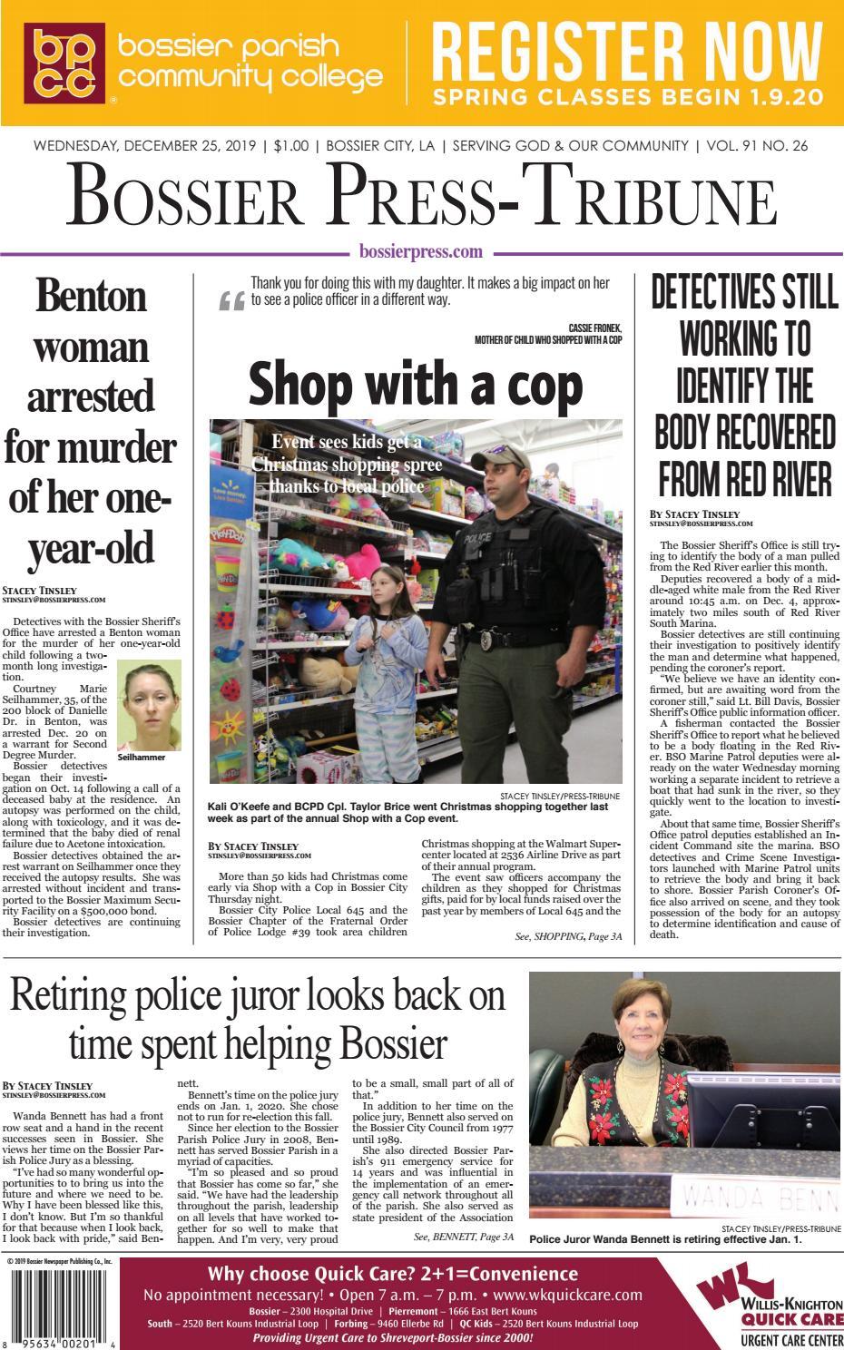 12 25 19 Bossier Press Tribune E Edition By Bossier Press