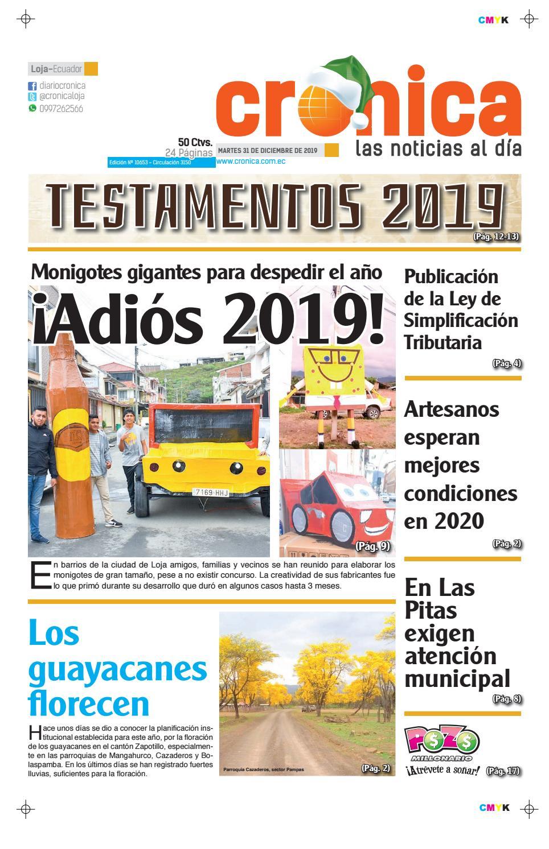Diario Cronica Loja Ecuador 31 Martes 2019 Diciembre