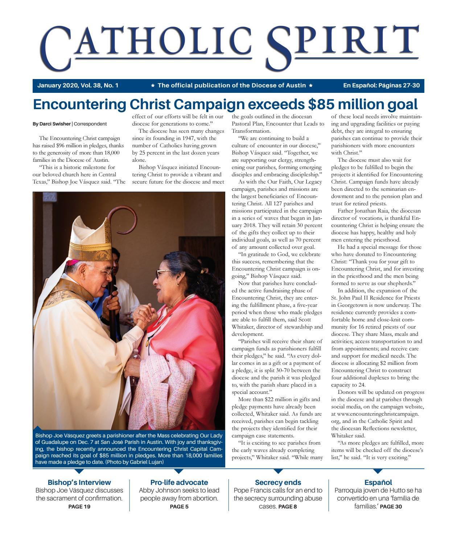 Amables Antes La Vecina catholic spirit, january 2020diocese of austin - issuu